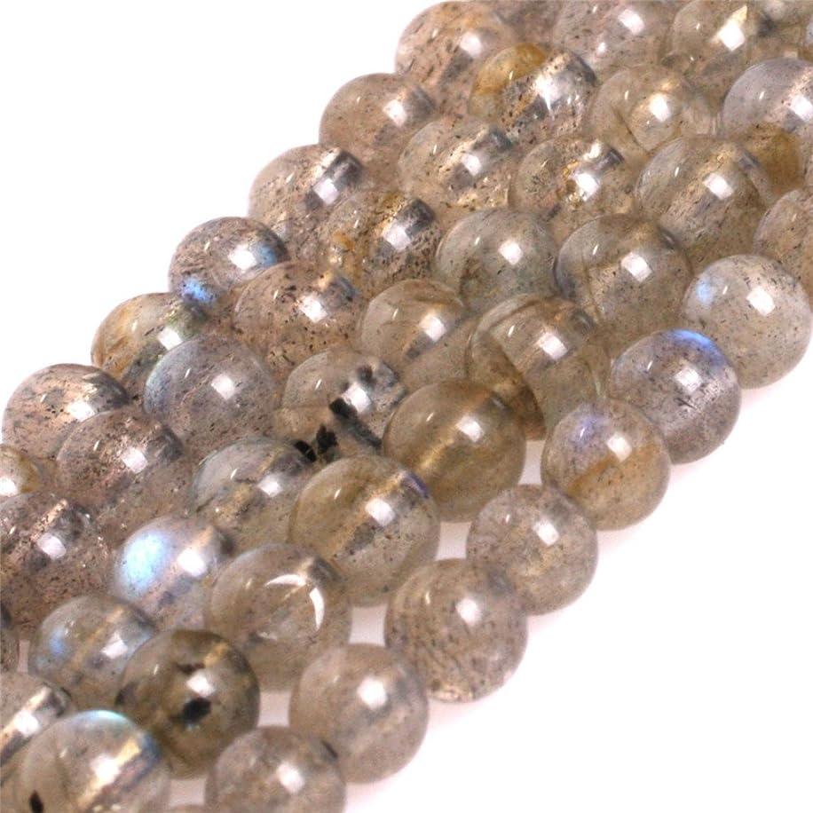 AAA Grade Natural Genuine Gemstone Semi Precious Stone Beads for jewelry Making 15'' (Round Blue Rainbow Labradorite/4MM)