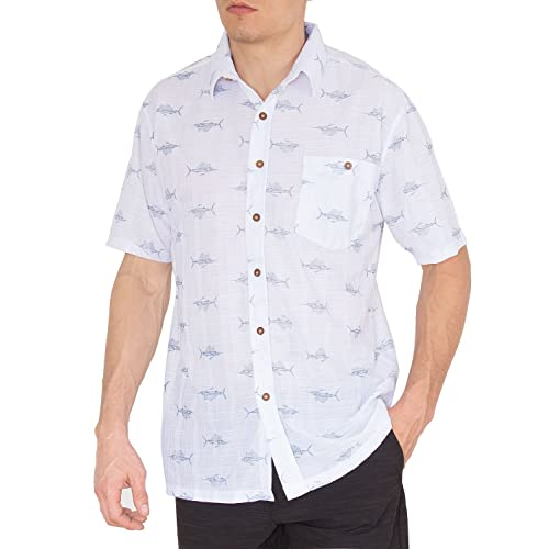 53f3578546f Nob Hill Hawaiian Shirt Relaxed Fit Casual Short Sleeve Big Mens Button up