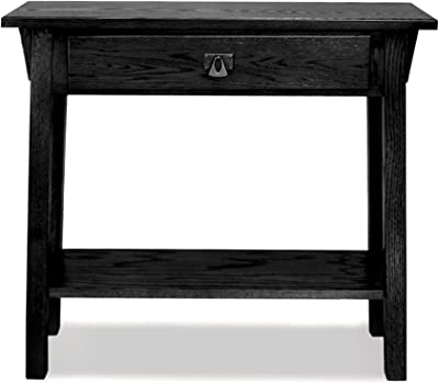 Leick Mission Hall Console Table, Slate Black