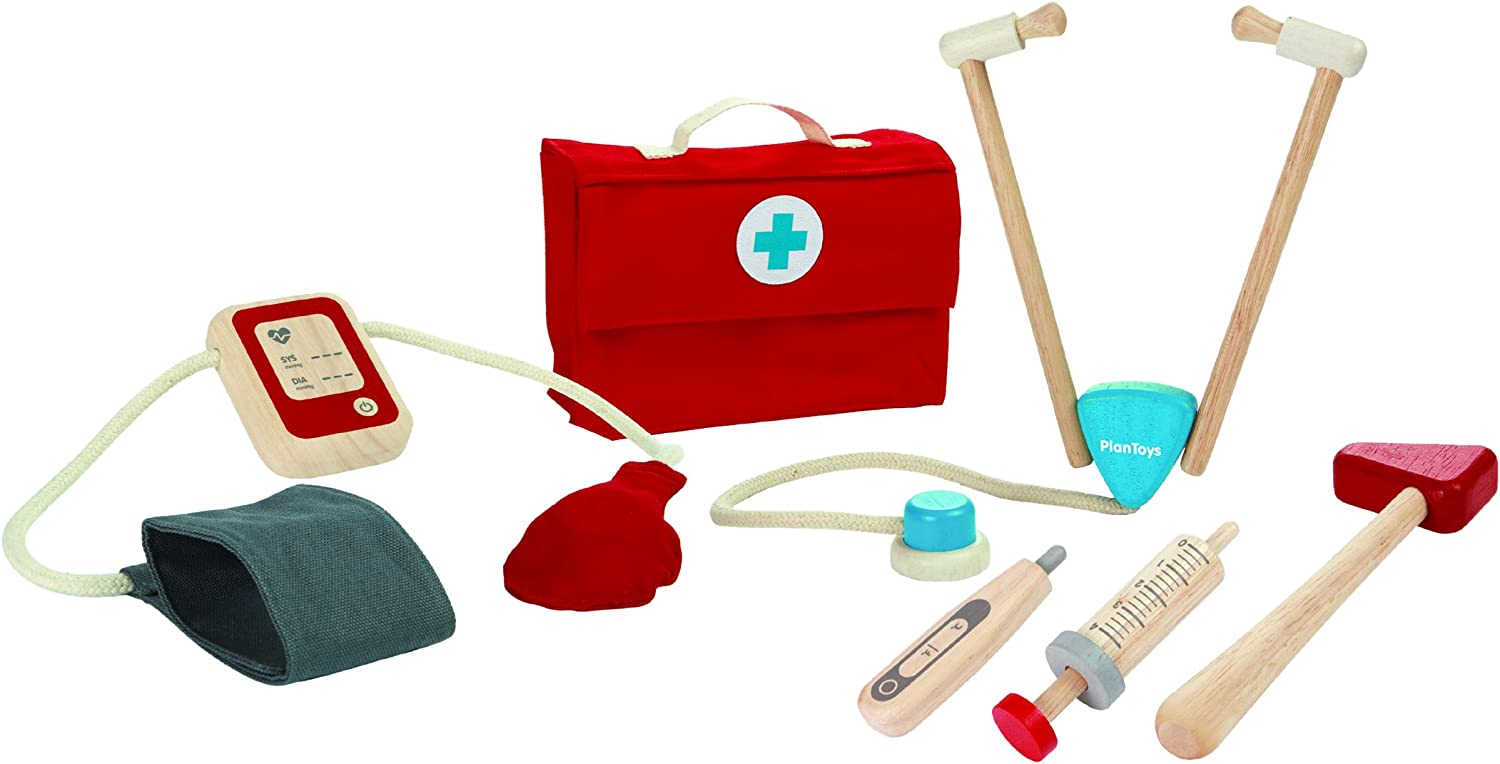 PlanToys Doctor Dr. Set Ranking TOP17 with Stethoscope Sustain 3451 El Paso Mall Wooden