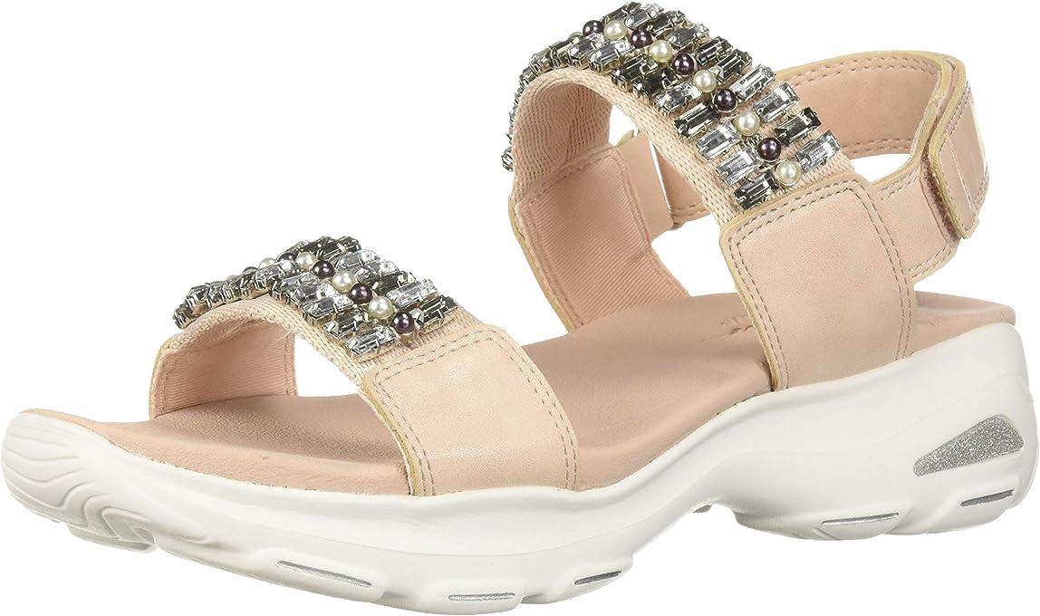 Skechers Women's D'Lites Ultra-Unicorn Posse-Rhinestone Double Strap Slingback Sandal