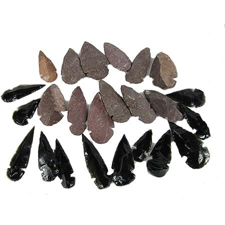 "Black Obsidian 9/"" Arrow Head Native Flint Stone Beautifully Handcrafted"