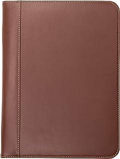 Samsill 71716 Contrast Stitch Leather Padfolio – Lightweight & Stylish Business..