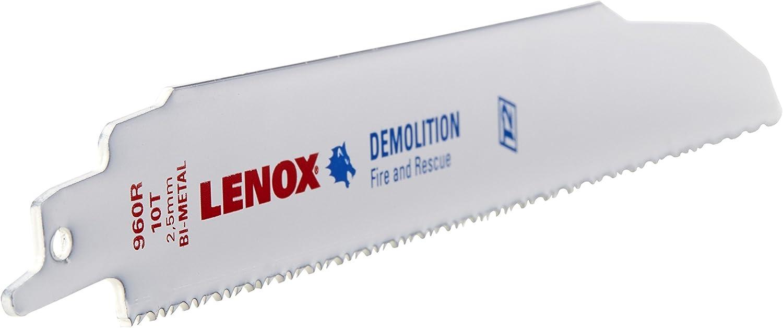 Lenox herramientas 21066414GR 10,16 cm 14 TPI titanio borde de corte para Metal hoja de sierra de vaiv/én 5 UNIDADES
