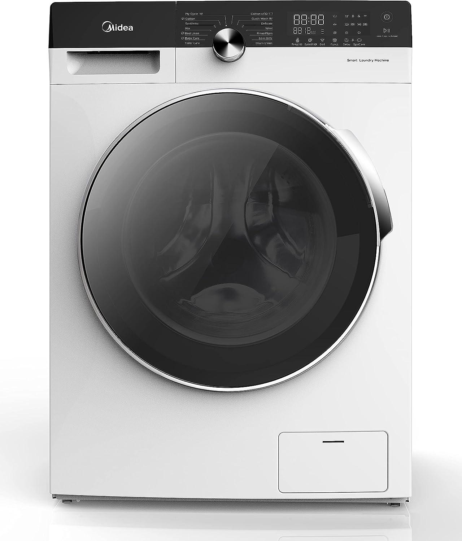 Midea MLD10/07K1500w, Lavasecadora de Libre Instalación, Carga Frontal, 10kg Lavado / 7kg Secado, 1500rpm