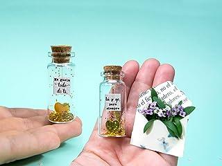 '' Tú y yo, para siempre'' '' me gusta todo de ti''-Mensaje en una botella. Miniaturas. Regalo personalizado. Divertida po...