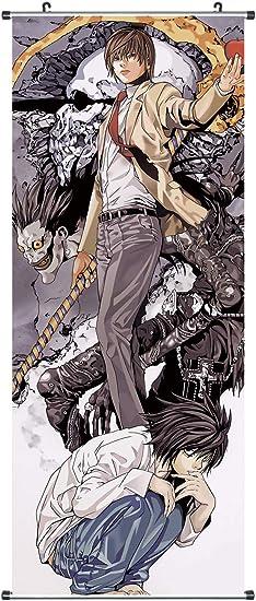 Gro/ßes Anime Wandbild Motiv: Light Yagami /& L Lawliet Kakemono 100x81cm CoolChange XXL Death Note Rollbild aus Stoff