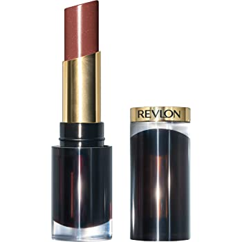 Revlon Super Lustrous Glass Shine Lipstick, Moisturizing Lipstick with Aloe and Rose Quartz in Brown, 008 Rum Raisin, 0.15 oz