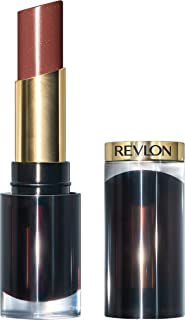 Revlon Super Lustrous Glass Shine Lipstick, Moisturizing Lipstick with Aloe and Rose Quartz in Brown, 008 Rum Raisin, 0.15 oz