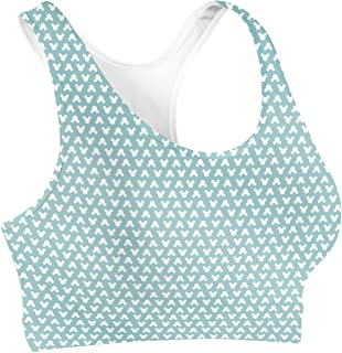 Rainbow Rules Mouse Ears Polka Dots Sports Bra