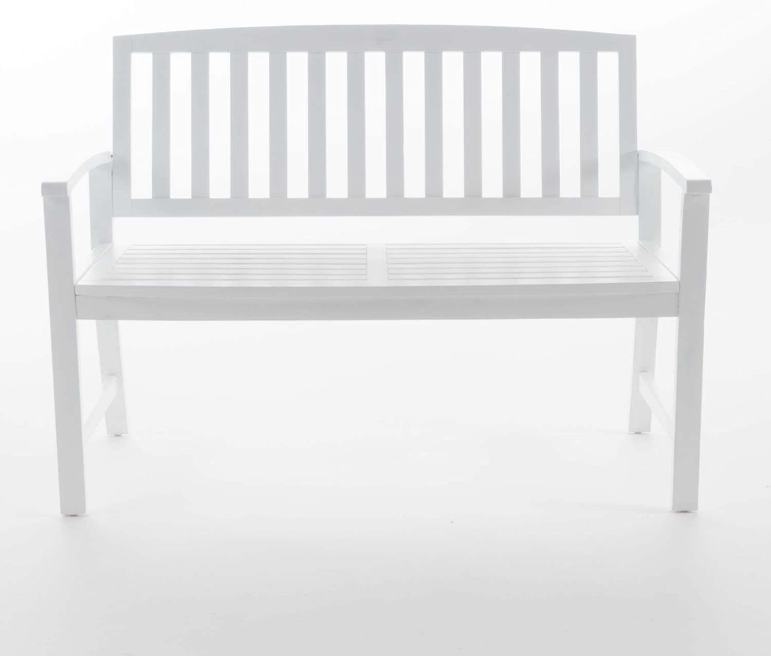 Christopher Knight Home 5 ☆ very popular Loja Outdoor Wood Bench White Pu National uniform free shipping Acacia