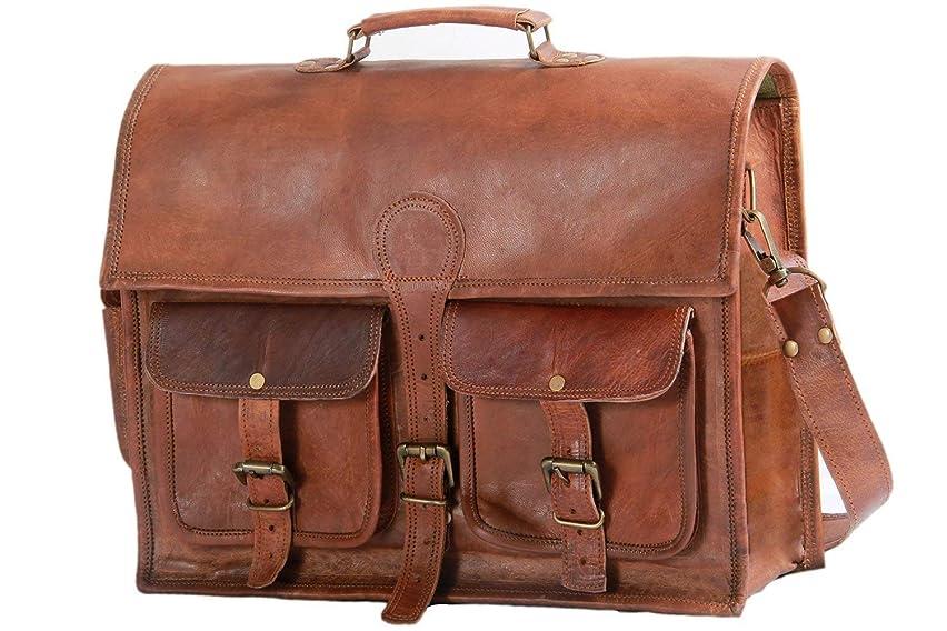 Phoenix Craft Vintage Large Leather Shoulder Bag Women Diaper Bag Travel Satchel Bag Laptop Shoulder Bag messenger satchel bag 16x12x5 Inches Brown