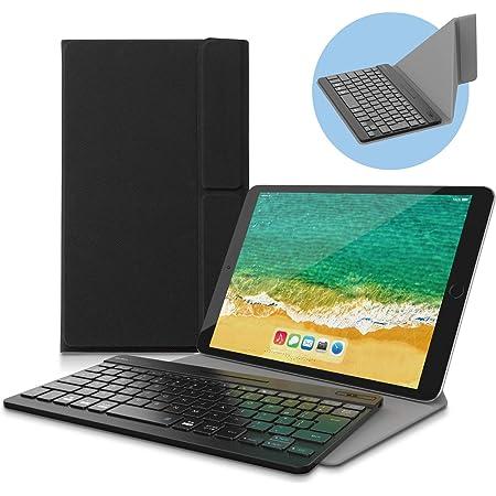 エレコム キーボード Bluetooth パンタグラフ 超薄型 充電式 専用ケーススタンド付き(~12.9対応) マルチペアリング対応 ブラック iPad Pro 2020 TK-SLP01BK