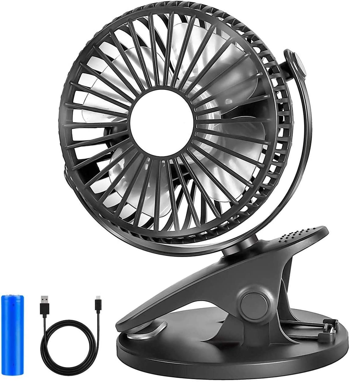IGOSAIT Noiseless Portable Handheld Small Clip Charg USB Fan New product! New type Complete Free Shipping