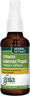 Gaia Herbs Echinacea Goldenseal Propolis Throat Spray, 1 Ounce (Pack of 2) - Supports Healthy Immune Response