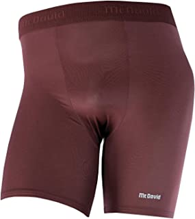 McDavid 706 Men's Deluxe Mid-Length Compression Soccer Shorts Maroon X-Large