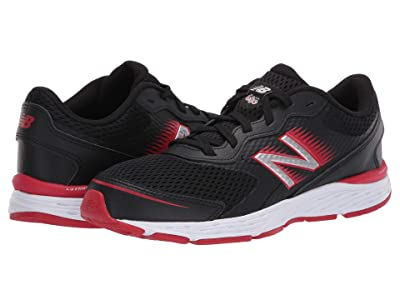 New Balance Kids 680v6 (Little Kid/Big Kid) (Black/Team Red) Boys Shoes