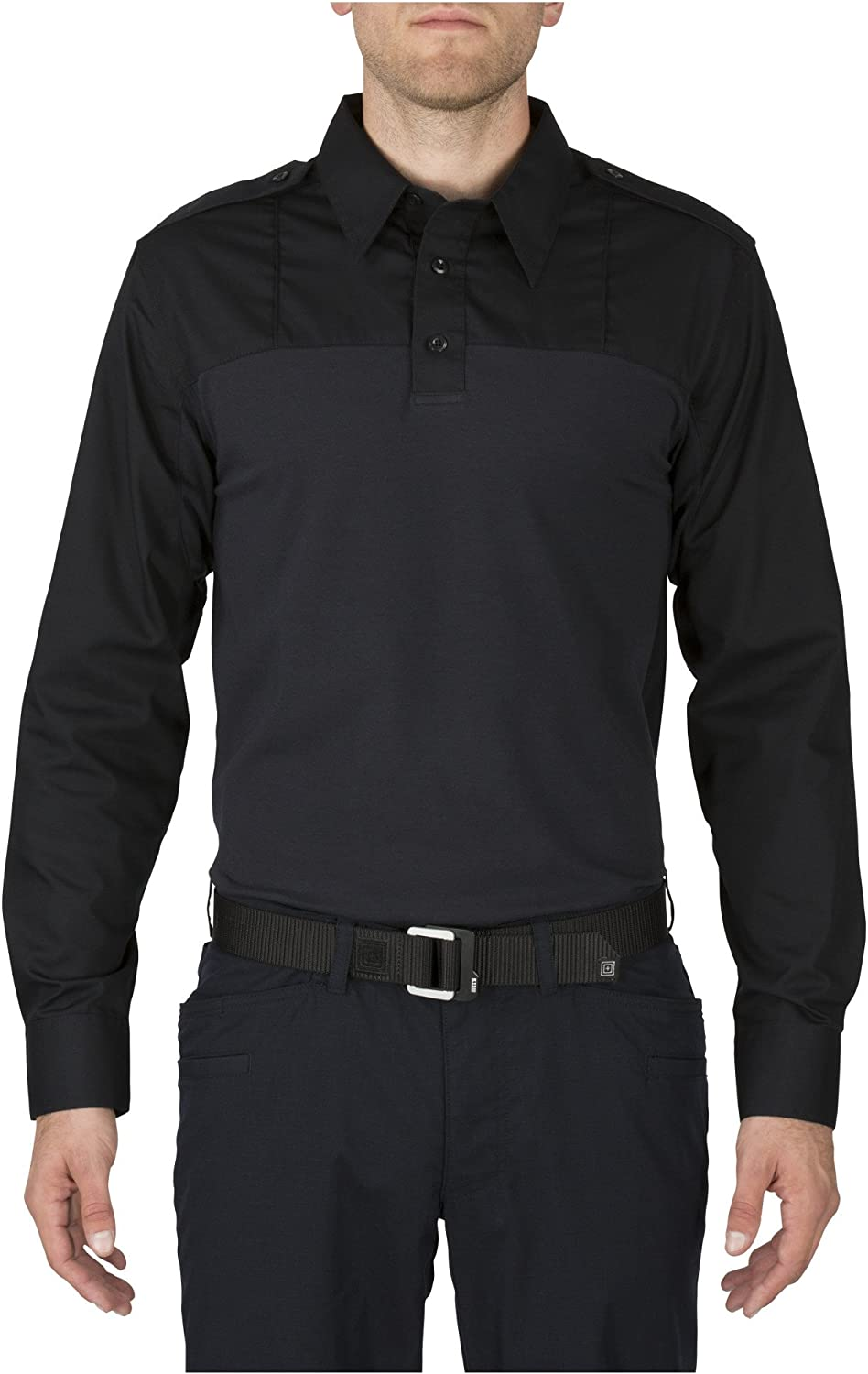 5.11 Tactical Men's Taclite PDU Rapid LongSleeve Work Polo Shirt, PolyCotton Dual Fabric, Style 72093