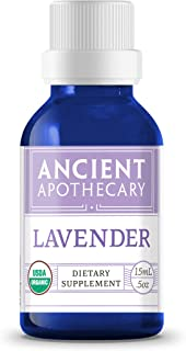 Lavender Organic Essential Oil from Ancient Apothecary, 15 mL - 100% Pure and Therapeutic Grade