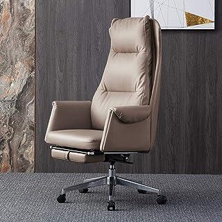 Chaise de jeu MHIBAX chaisepivotante chaise d'ordinateur, chaise en cuir d'affaires à domicile chaise de bureau inclina...