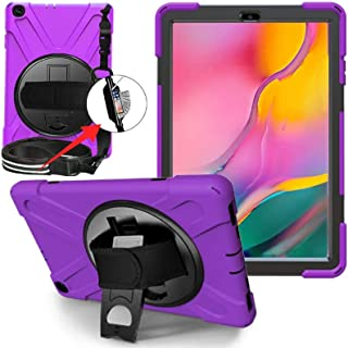 LITCHI Galaxy Tab A 10.1 2019 Case T510 T515, Rugged Heavy Duty Shockproof Rotating Kickstand Protective Cover Case for 1...