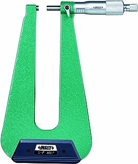 INSIZE 3239-13S Sheet Metal Micrometer Type C Graduation 0.0001 0-1