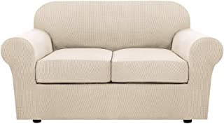 3 Piece Stretch Sofa Covers for 2 Cushion Couch Loveseat...