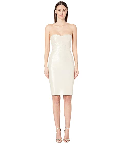 Zac Posen Champagne Jacquard Party Dress