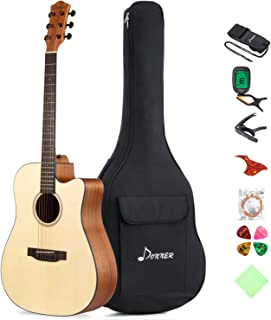 Donner DAG-1C Beginner Acoustic Guitar Full Size, 41