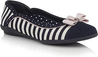 Ruby Shoo 09294 Lizzie Navy Stripe