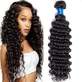 Cranberry Hair Brazilian Deep Wave Hair One Bundle 26 inch Unprocessed Virgin Brazilian Straight Human Hair Weave Bundle Natural Black Color