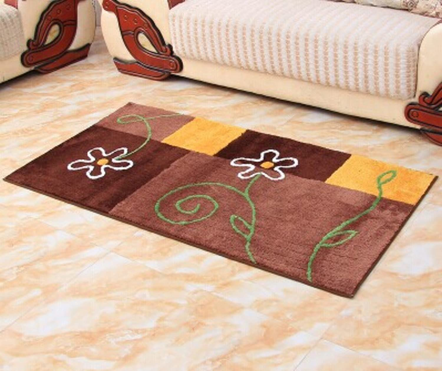 Living Room Floor Mats in The Hall Dirt-Resistant Mats Kitchen Door Mats Stain-Resistant Mats-B 80x130cm(31x51inch)