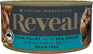 Reveal - Grain Free | Wet Canned Cat Food | 2.47oz - 24 Pack - Premium Nutrition, 100% Natural, No Additives, and Limited Ingredients … (Tuna with Sea Bream)