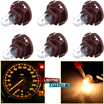 cciyu 4 Pack Super Yellow 3014 SMD T5//T4.7 Neo Wedge 3 LED Instrument A//C Climate Control Light Bulbs Replacement fit for 1999 2000 2001 Saab 9-3