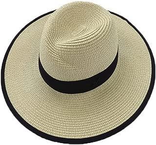 Straw Hat Beach Hat Round Cap Summer Shade Sunscreen Pure Pattern Cap Women, C