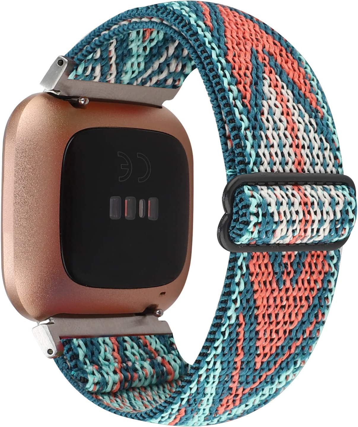 Adjustable Elastic Watch Band Compatible with Fitbit Versa/Versa 2/Versa Lite Special Edition for Women Men Nylon Stretchy Strap Wristband for Fitbit Versa Smart Watch (Green Arrow) : Sports & Outdoors