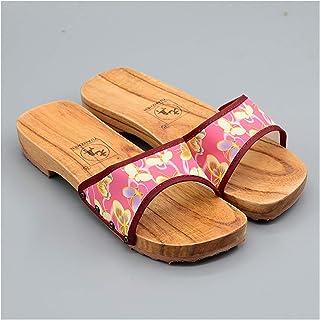 ZCPCS Zapatillas de Madera para baño Hombres Anterior Anterior Hombres Y Mujeres Zapatos de Madera, Pareja de cuña de una ...