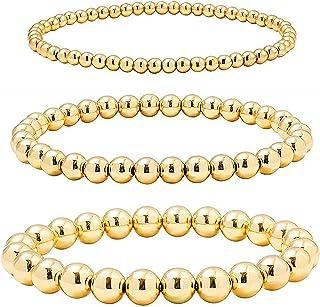 YooAi Set di Braccialetti di Perline per Bracciale Elastico Elasticizzato Impilabile da Donna