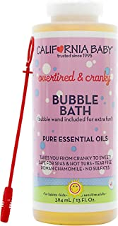 California Baby Overtired and Cranky Bubble Bath with Calming Chamomile, No Tear, Pure Essential Oils for Bathing, Hot Tubs, or Spa Use, Moisturizing Organic Aloe Vera and Calendula Extract (13 fl. ou