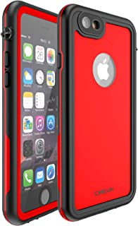 CellEver iPhone 6 Plus / 6s Plus Case Waterproof Shockproof IP68 Certified SandProof Snowproof Full Body Protective Cover Fits Apple iPhone 6 Plus (5.5 Inch) - KZ C-Red