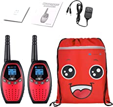 ONFAON Boys Toys Gift for Kids, Walkie Talkies for Kids Rechargeable Walky Talky with Automatic Battery Save,Range Up to 3 Miles for Camping,Hiking,Fishing,Outdoor Activities (Red)