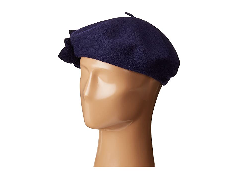 1940s Style Hats Betmar Flower Beret Navy Caps $30.00 AT vintagedancer.com