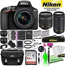 $684 » Nikon D3500 DSLR Digital Camera with 18-55mm and 70-300mm Lenses (1588) USA Model Deluxe Bundle -Includes- Sandisk 64GB SD Card + Nikon Bag + Filter Kit + Spare Battery + Telephoto Lens + More