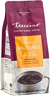 Teeccino Chicory Coffee Alternative – Hazelnut – Ground Herbal Coffee That's Prebiotic, Caffeine Free & Acid Free, Medium ...