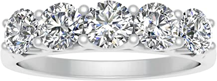 SK Jewel 1/2ctw 10k Diamond Five Stone Wedding Band (White Gold) + $32.50 Sears Credit