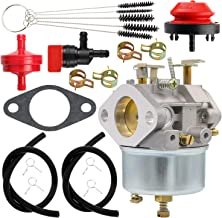 Yingshop Replacement for Carburetor John Deere Snowblower 526 726 732 826 826D 828D 832 1032 1032D TRS22 TRS24 TRS26 TRS27 TRS32 TRX24 TRX26 TRX27 TRX32 Snow Blower Carb with Primer Bulb Gasket Clamps