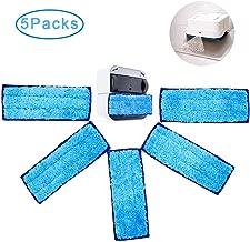 Hushtong Washable Mopping Pads for iRobot Braava Jet 240 241(5 Packs)