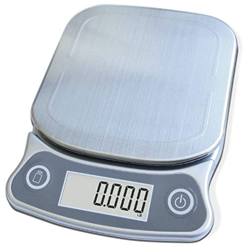 EatSmart Precision Elite Digital Kitchen Scale - 15 lb. Capacity, UltraBright Display and Stainless