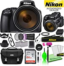 $1009 » Nikon COOLPIX P1000 16MP 125x Optical Zoom Digital Camera (26522) USA Model Deluxe Bundle -Includes- Sandisk 64GB SD Card + Nikon Gadget Bag + Filter Kit + Spare Battery + Cleaning Kit + More