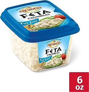 President All-Natural Crumbled Fat Free Feta Cheese, 6oz.